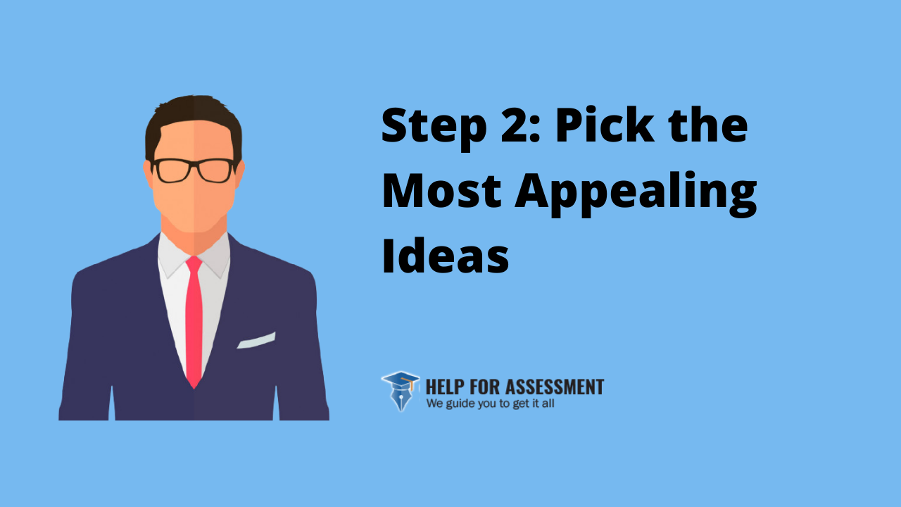 pick the most appealing idea for Personal statement